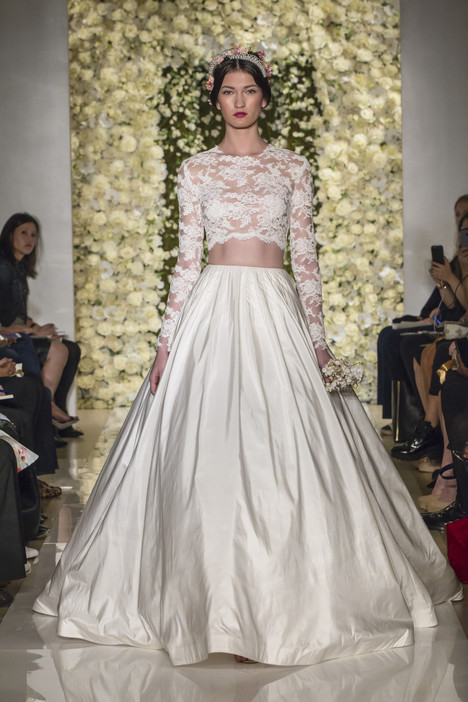 I'm Timeless (skirt) & I'm Special gown from the 2015 Reem Acra collection, as seen on Bride.Canada