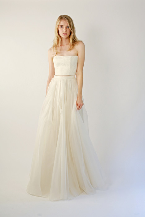 Farrah Skirt gown from the 2015 Leanne Marshall collection, as seen on Bride.Canada