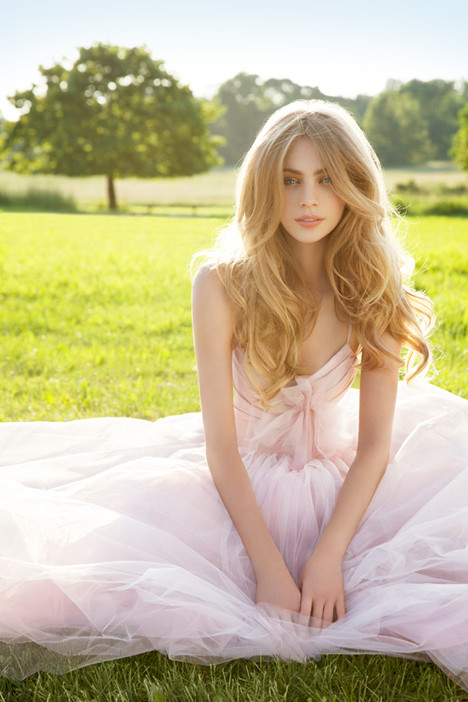 Lilac gown from the 2012 Blush by Hayley Paige collection, as seen on Bride.Canada