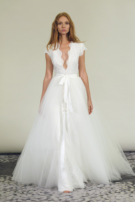 Adella adella overskirt by alyne wedding dresses for Wedding dress with overskirt