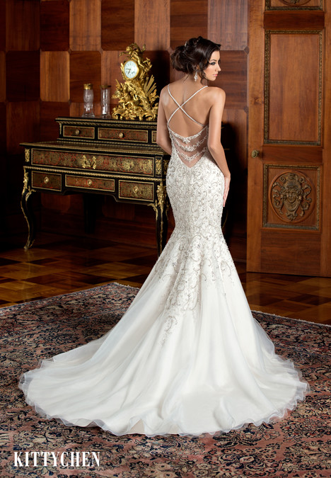 Ariana (back) gown from the 2015 KittyChen collection, as seen on Bride.Canada