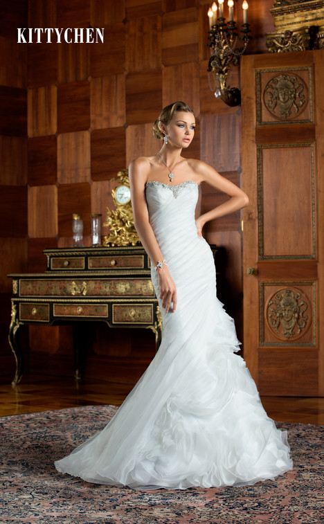 Penelope gown from the 2015 KittyChen collection, as seen on Bride.Canada