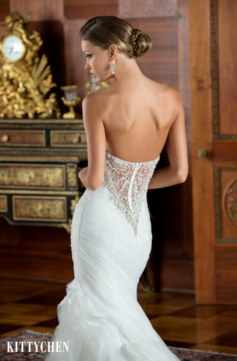 Penelope (back) gown from the 2015 KittyChen collection, as seen on Bride.Canada