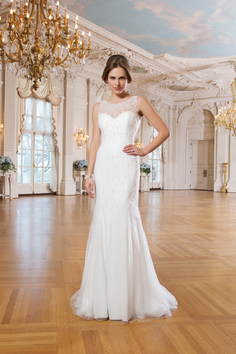 6351 gown from the 2015 Lillian West collection, as seen on Bride.Canada