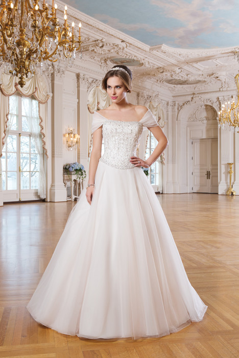 6357 gown from the 2015 Lillian West collection, as seen on Bride.Canada