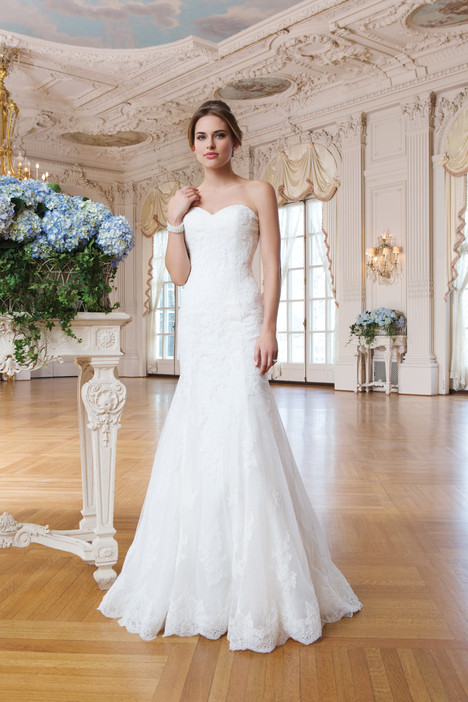 6365 gown from the 2015 Lillian West collection, as seen on Bride.Canada