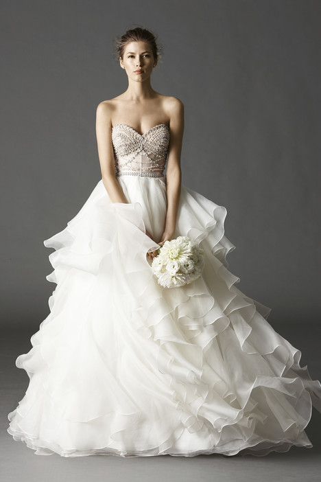 Kian Corset + Priya Skirt gown from the 2015 Watters Brides collection, as seen on Bride.Canada