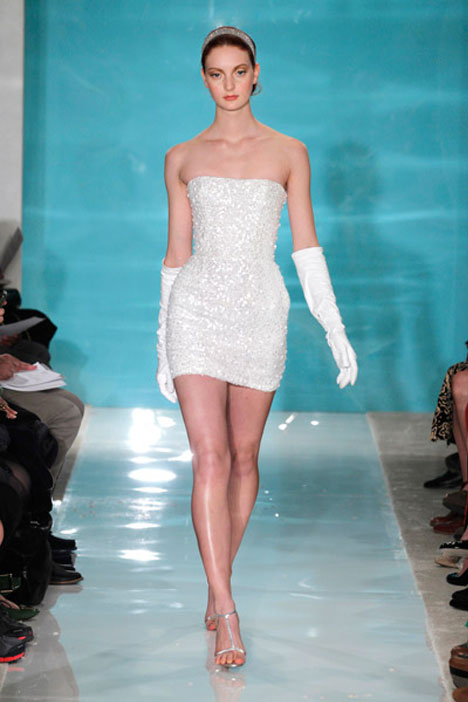 Mini Glamour gown from the 2013 Reem Acra collection, as seen on Bride.Canada