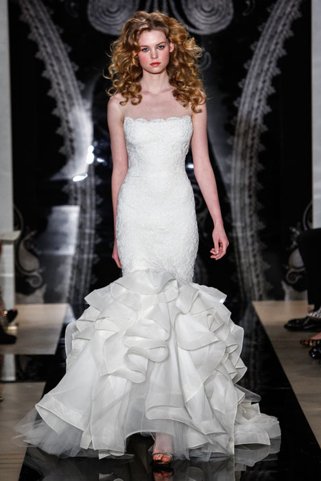 Sariah gown from the 2014 Reem Acra collection, as seen on Bride.Canada