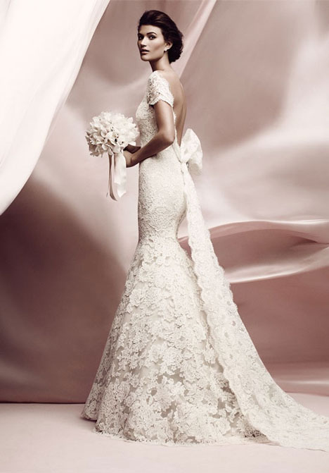 Lissome (with Bow) gown from the 2012 Ines Di Santo collection, as seen on Bride.Canada