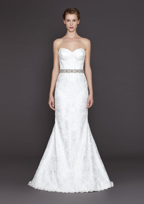Lacey gown from the 2015 Winnie Couture : Blush collection, as seen on Bride.Canada