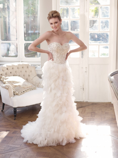 M1318L gown from the 2013 Mia Solano collection, as seen on Bride.Canada