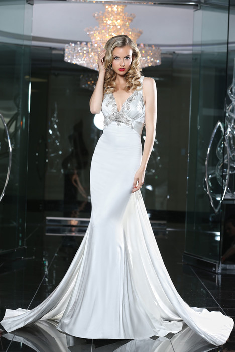 90220 gown from the 2015 Simone Carvalli collection, as seen on Bride.Canada