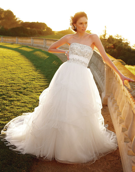 2052 gown from the 2011 Casablanca Bridal collection, as seen on Bride.Canada