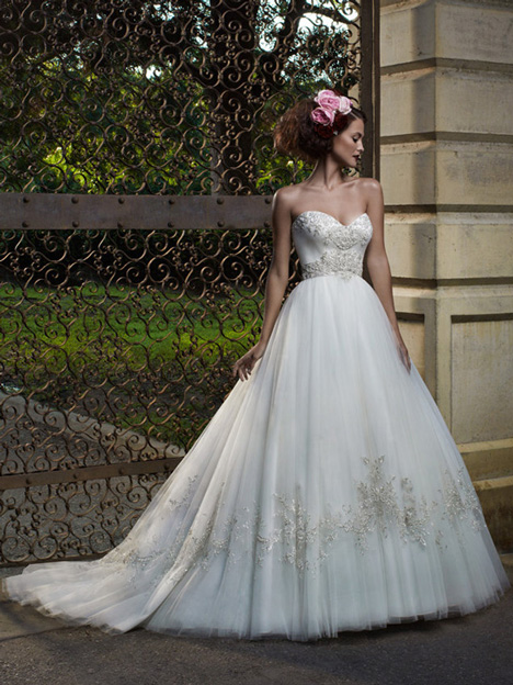 2077 gown from the 2012 Casablanca Bridal collection, as seen on Bride.Canada