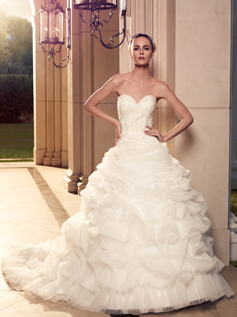 2085 gown from the 2012 Casablanca Bridal collection, as seen on Bride.Canada