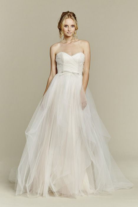 Candi + Overskirt gown from the 2015 Blush by Hayley Paige collection, as seen on Bride.Canada