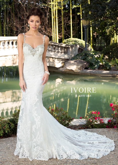 Chelsea gown from the 2016 Ivoire by Kitty Chen collection, as seen on Bride.Canada