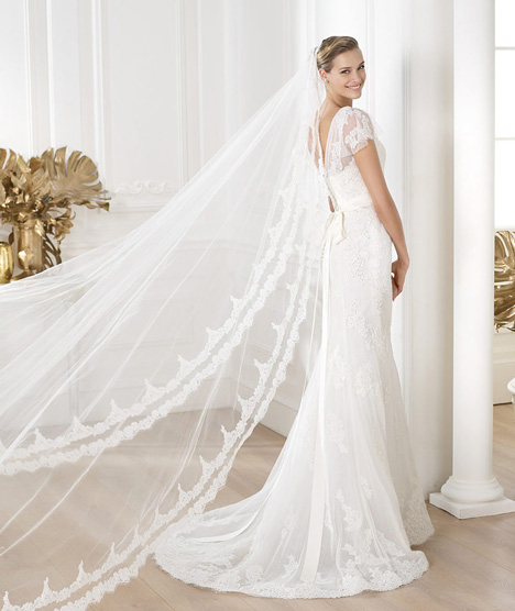 Lianela gown from the 2014 Pronovias collection, as seen on Bride.Canada