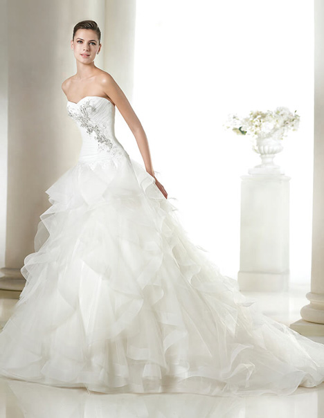 Salvina gown from the 2015 St. Patrick collection, as seen on Bride.Canada