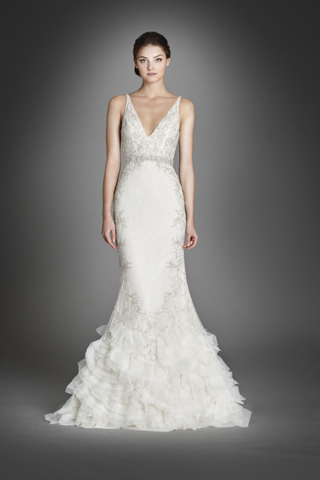 3551 gown from the 2015 Lazaro collection, as seen on Bride.Canada