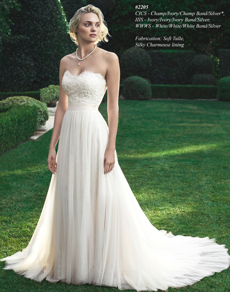2205 gown from the 2015 Casablanca Bridal collection, as seen on Bride.Canada