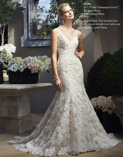 2206 gown from the 2015 Casablanca Bridal collection, as seen on Bride.Canada