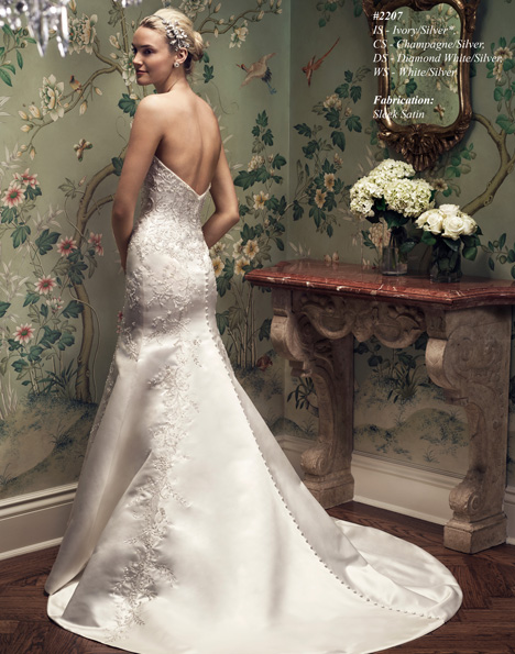 2207 (2) gown from the 2015 Casablanca Bridal collection, as seen on Bride.Canada