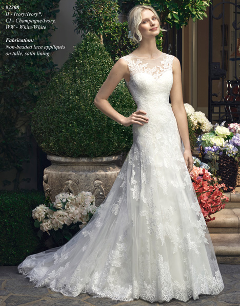 2208 gown from the 2015 Casablanca Bridal collection, as seen on Bride.Canada