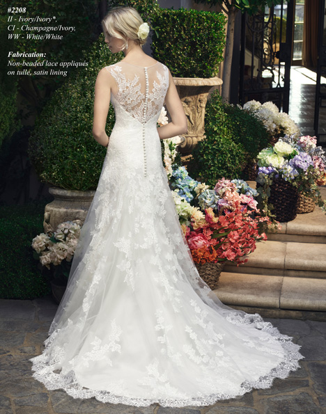 2208 (2) gown from the 2015 Casablanca Bridal collection, as seen on Bride.Canada