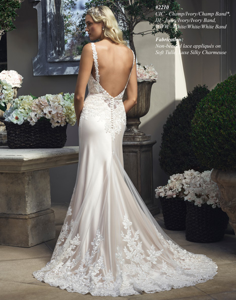 2210 (2) gown from the 2015 Casablanca Bridal collection, as seen on Bride.Canada