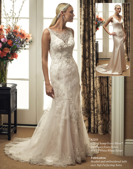 2211 gown from the 2015 Casablanca Bridal collection, as seen on Bride.Canada