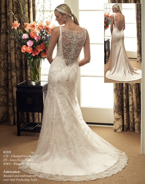 2211 (2) gown from the 2015 Casablanca Bridal collection, as seen on Bride.Canada