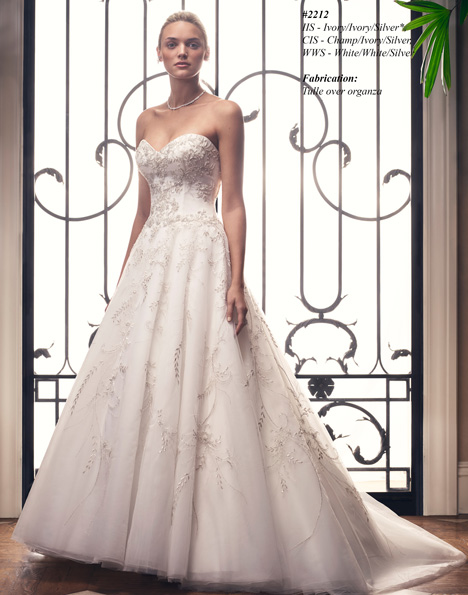 2212 gown from the 2015 Casablanca Bridal collection, as seen on Bride.Canada