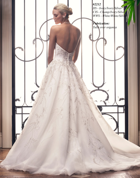 2212 (2) gown from the 2015 Casablanca Bridal collection, as seen on Bride.Canada