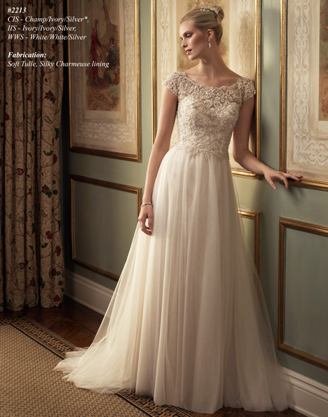 2213 gown from the 2015 Casablanca Bridal collection, as seen on Bride.Canada