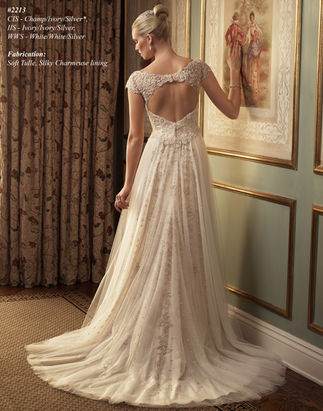 2213 (2) gown from the 2015 Casablanca Bridal collection, as seen on Bride.Canada