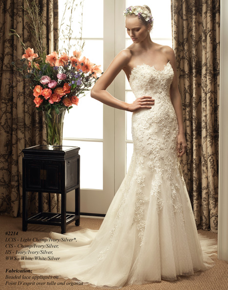 2214 gown from the 2015 Casablanca Bridal collection, as seen on Bride.Canada