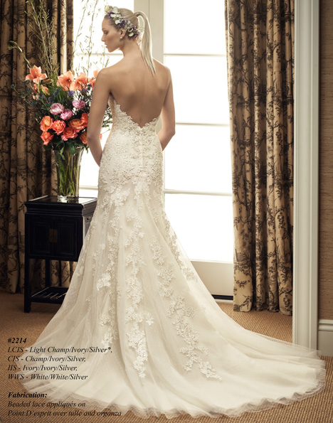 2214 (2) gown from the 2015 Casablanca Bridal collection, as seen on Bride.Canada