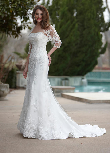 8436 gown from the 2013 DaVinci collection, as seen on Bride.Canada