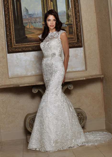 50168 gown from the 2014 DaVinci collection, as seen on Bride.Canada