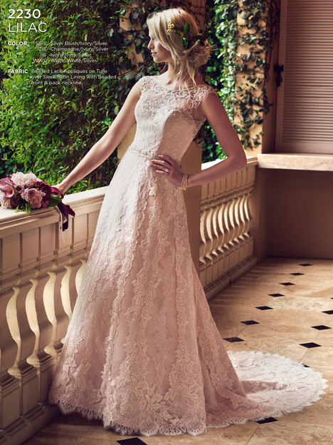 Lilac gown from the 2016 Casablanca Bridal collection, as seen on Bride.Canada