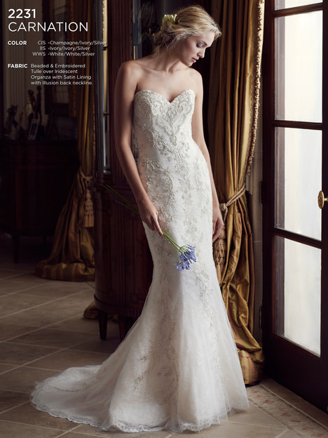 Carnation gown from the 2016 Casablanca Bridal collection, as seen on Bride.Canada