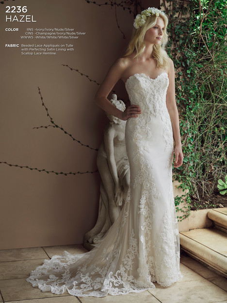 Hazel gown from the 2016 Casablanca Bridal collection, as seen on Bride.Canada
