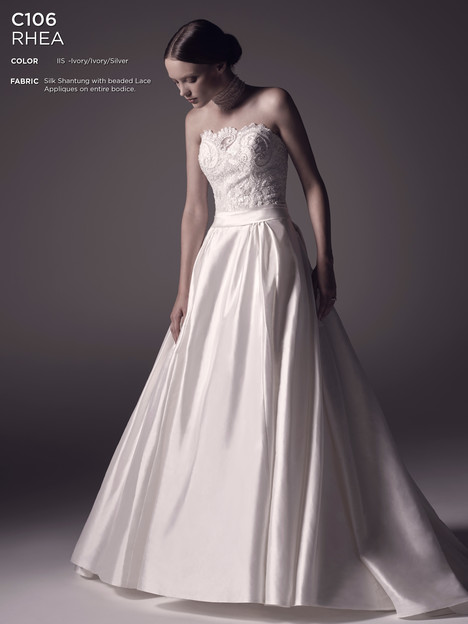Rhea gown from the 2016 Amare collection, as seen on Bride.Canada