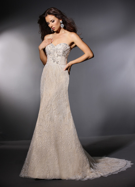 Claudette gown from the 2015 Cristiano Lucci collection, as seen on Bride.Canada