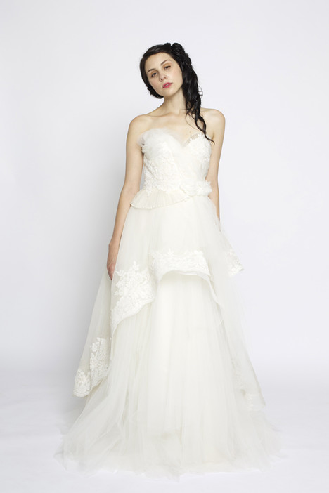 Swan Song (Ivory) gown from the 2014 Claire La Faye collection, as seen on Bride.Canada