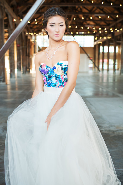 Floral Bustier + Tulle Ballgown gown from the 2016 Pure Magnolia collection, as seen on Bride.Canada