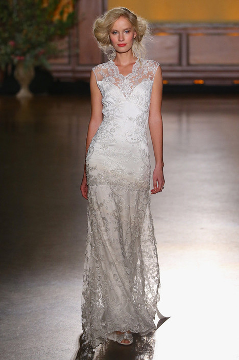 Bijoux gown from the 2016 Claire Pettibone: Romantique collection, as seen on Bride.Canada