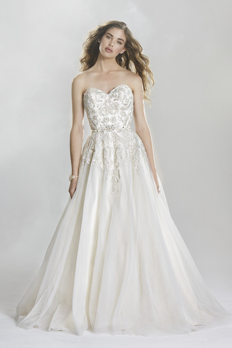 6419 gown from the 2016 Lillian West collection, as seen on Bride.Canada